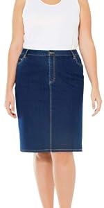 Plus Size Short Denim Skirt