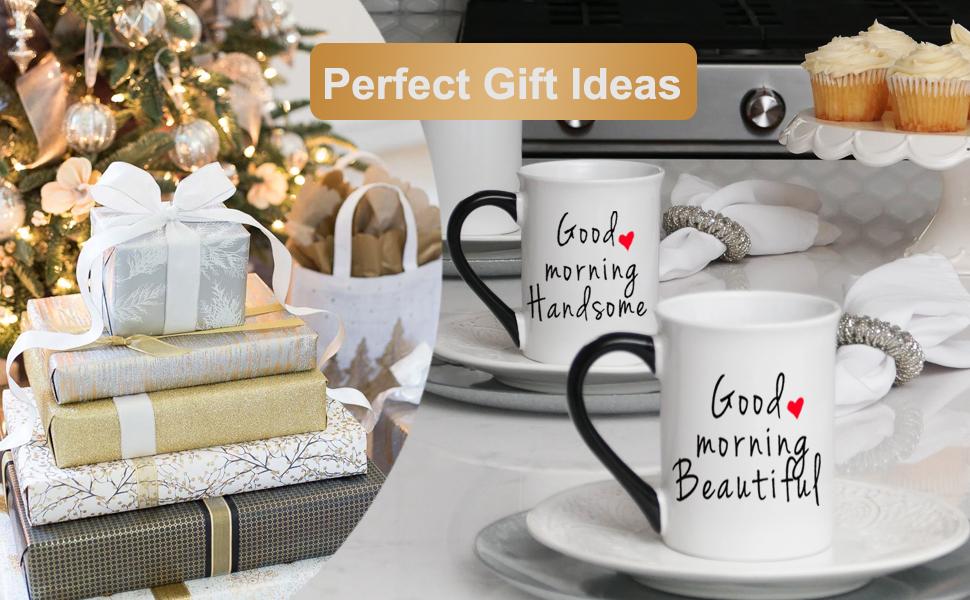 wife gifts husband gifts love gifts mug sets i love you more i love you mugs good morning beautiful