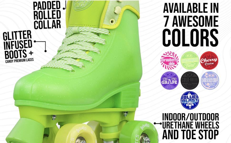 size adjustable quad roller skates for boys girls kids children speed wheels abec bearings hub