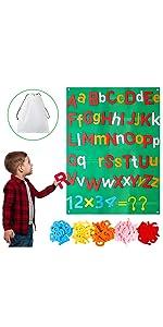 WATINC 122Pcs Alphabet Felt Flannel Board Kit
