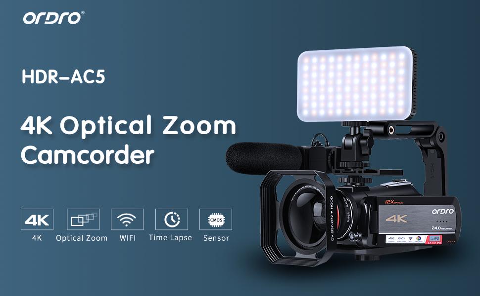 ORDRO AC5 4K Camcorder
