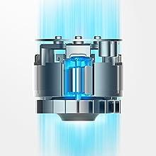 Tineco A10 Hero Aspirateur balai sans fil Batterie légère au lithium de moteur numérique 350W et brosse LED, aspirateur portatif, nettoyage en