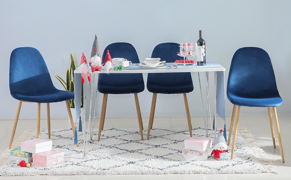 GreenWorlds velvet dining chairs Set of 4