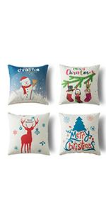 decirative christmas pillow cover christmas pillow covers blue accent pillow covers 4 pack
