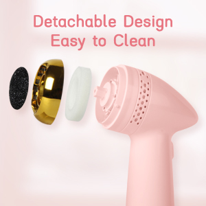 Rechargeable Foot File with 6 Grinding Head Professional Feet Care Perfect for Hard Cracked Dry Skin