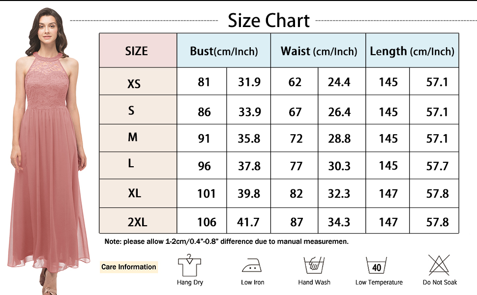 Size chart amp; Care information