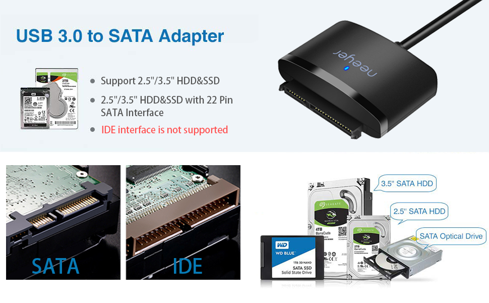 sata to usb hard drive adapter SSD to usb cable