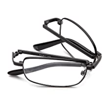 these slim reading glasses allow you to see above & below the lenses, magnifying only what you need