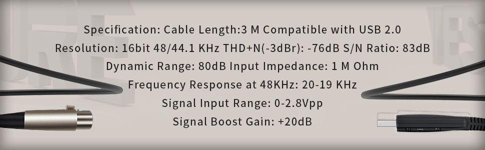 USB Microphone Cable