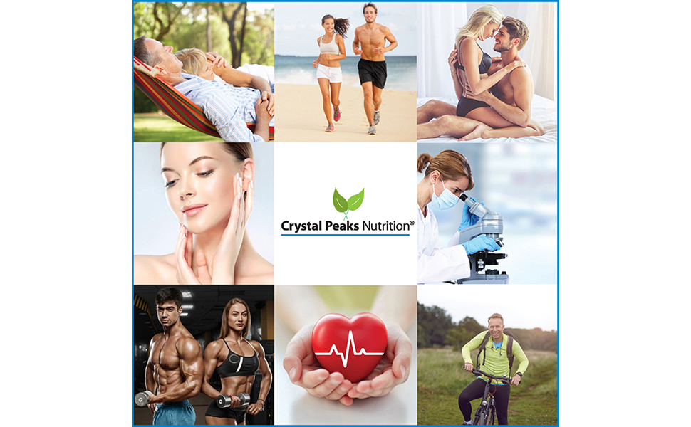 Crystal Peaks Nutrition supplements and vitamins lifestyle images