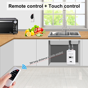 tankless water heater electric with remote control touch control