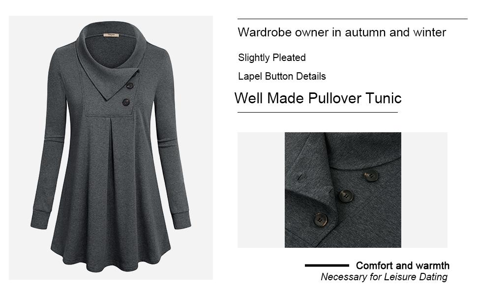 Women's Sweatshirts Pullover,Ladies Long Sleeve Cowl Neck Comfy Loose Fit Juniors Pretty Petite