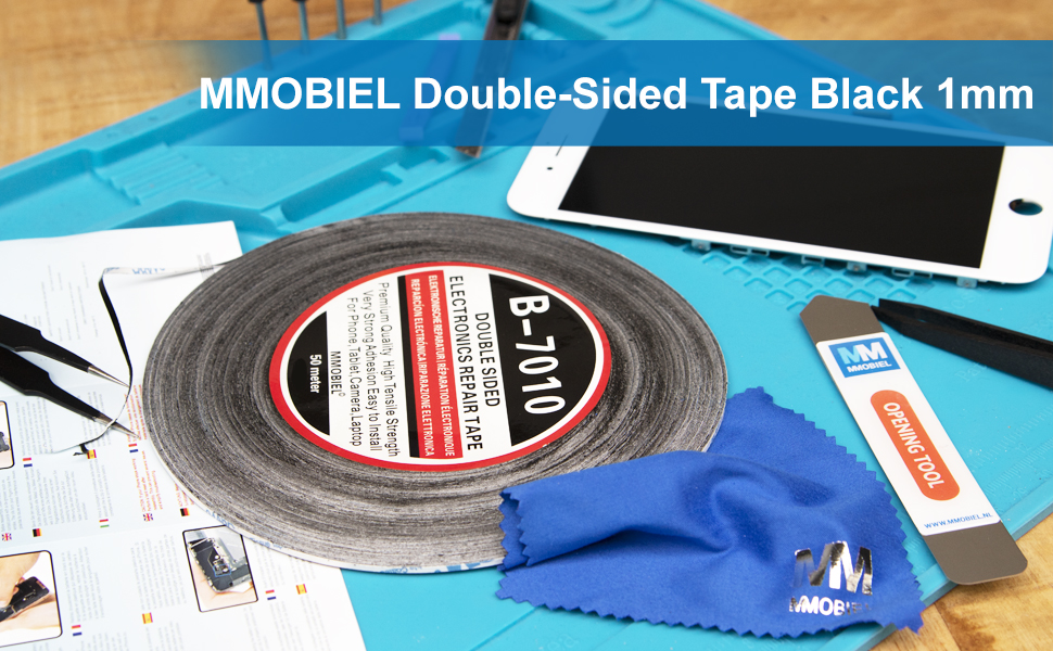 Mmobiel Double Sided Adhesive Tape Strong Adhesive Tape 50 Metre Roll Black For Smartphone Tablet Repair Business Industry Science