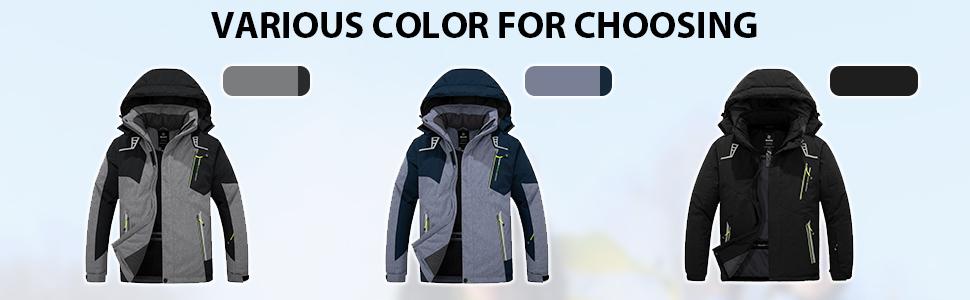 Men's Mountain Ski Jacket Waterproof Rain Coat