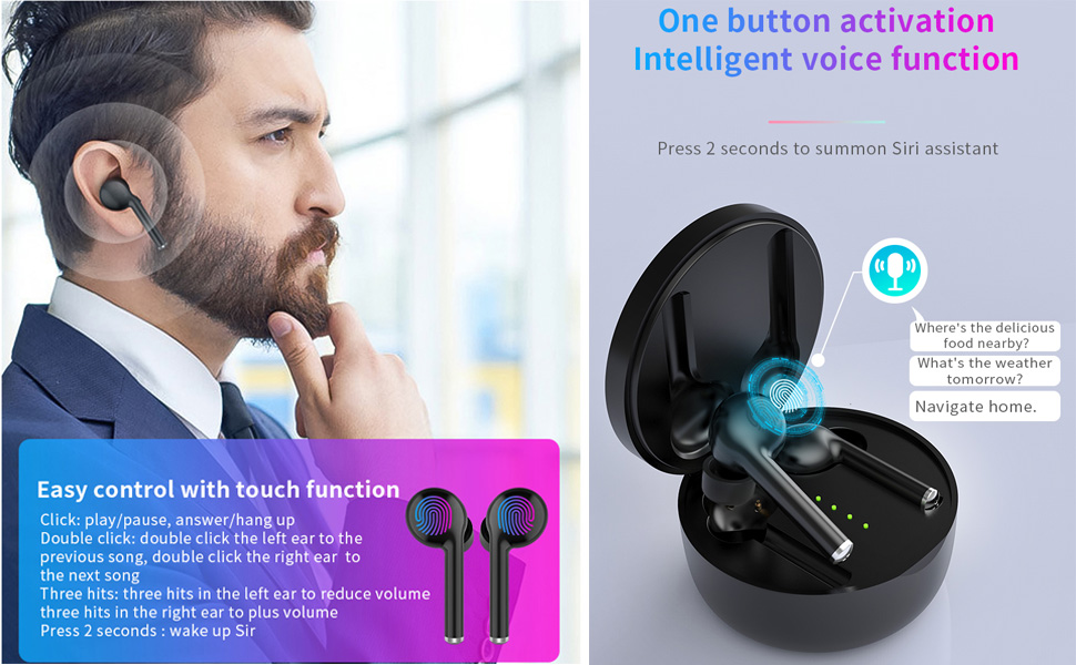 wireless earphone wireless headphones wireless earbuds in ear headphone bluetooth 5.0 HiFi  ear buds
