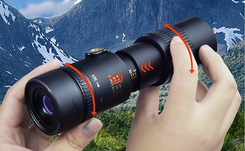 monocular telescope 4k 10-300x40mm