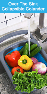collapsible strainer colander B07M63SY69