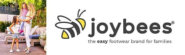 joybees brand logo, family footwear brand