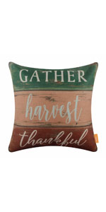 LINKWELL Farmhouse Fall Pillow Cover 18x18 inch Decorative Pillow Cover