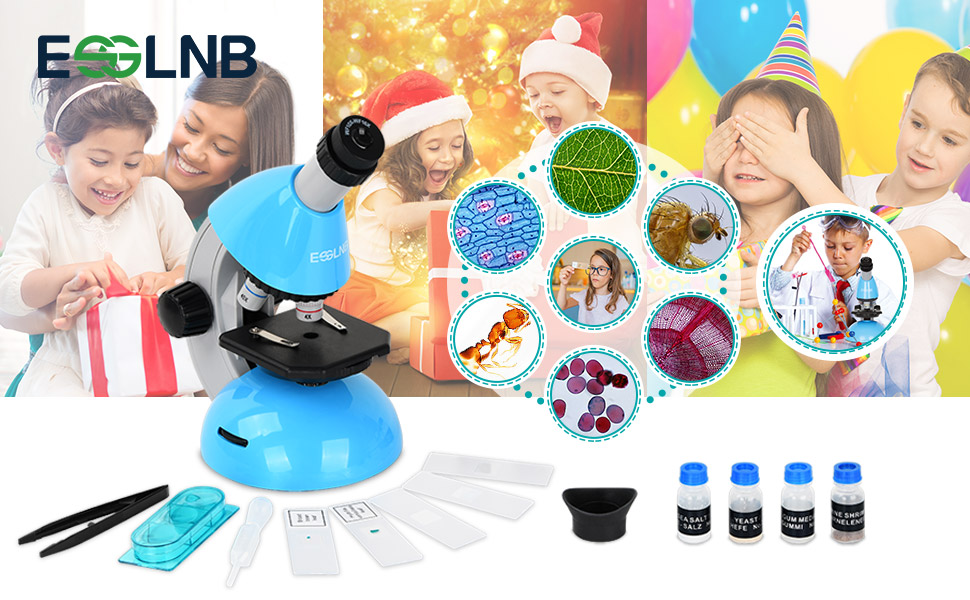 kids microscope with slides