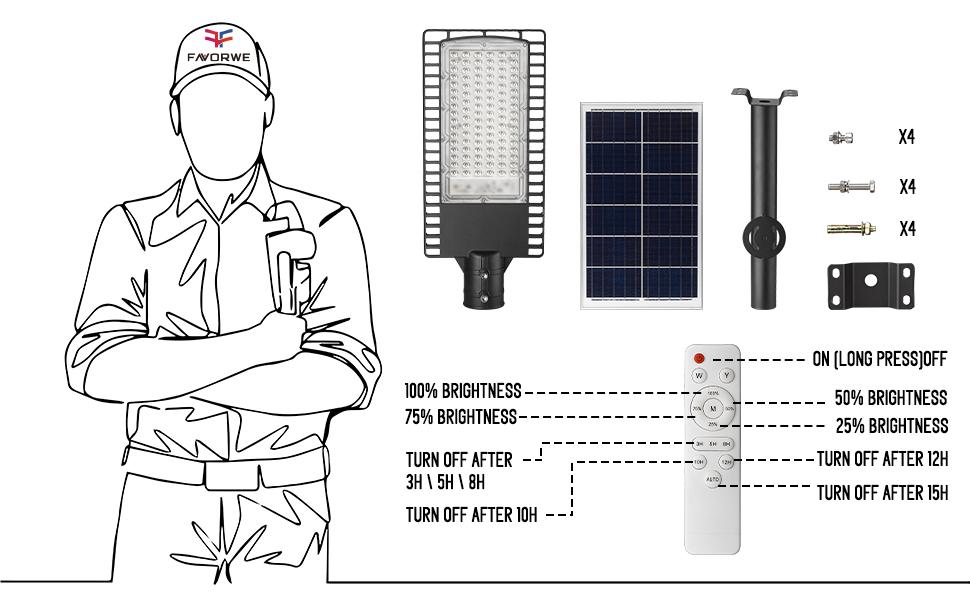 solar street light for commercial use