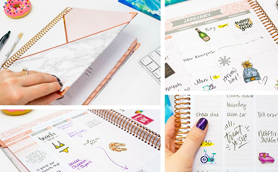 bloom daily planners 2019-2020 Hardcover Academic Year Vision Planner (August 2019 - July 2020) - Monthly and Weekly Column View Calendar Organizer - ...