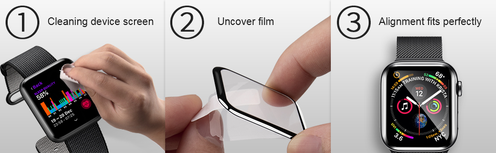 Cleaning device screen Uncover film Alignment fits perfectly
