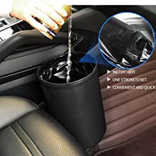 Mini van /& SUV ZATOOTO Car Bin for Trash Storage with Black Interior Garbage Can Bag,Waterproof//Foldable//Portable Hanging Seat Litter Organizer Easy to Clean Waste on Your Auto Truck