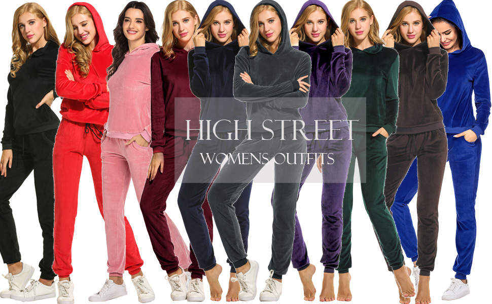 high street  Womens Sweatsuit Outfits