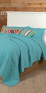 vhc brands, bedding, coastal, home decor, 3 coast way, three coast way, pueblo, quilt