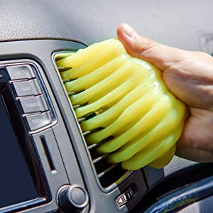 car dashboard ac vent dust cleaning slime gel jelly putty