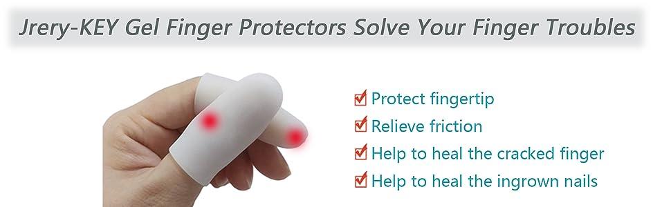 Finger Protector Finger Caps Silicone Fingertips Protection - Gel Finger  Cots Great for Trigger Finger, Finger Arthritis, Finger Cracking and Other