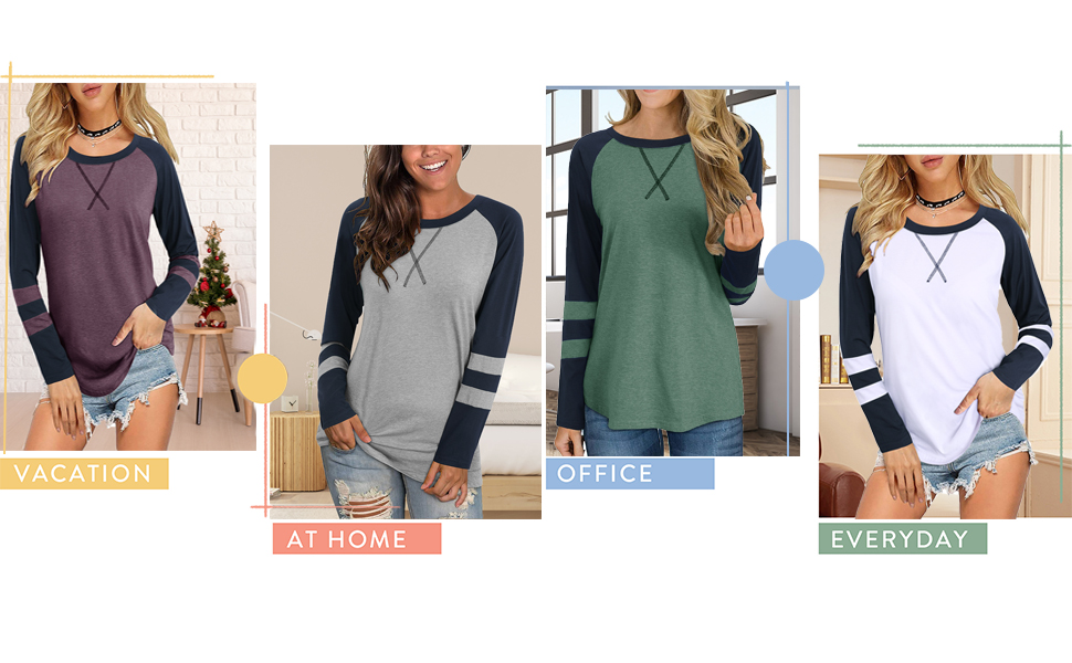 long sleeve tops for womens