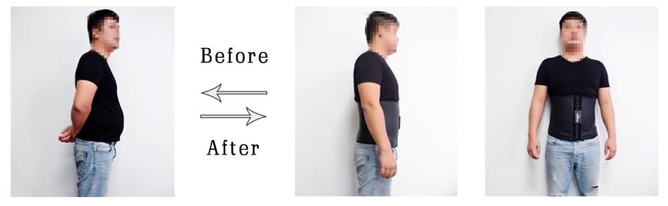 latex waist trainer for men