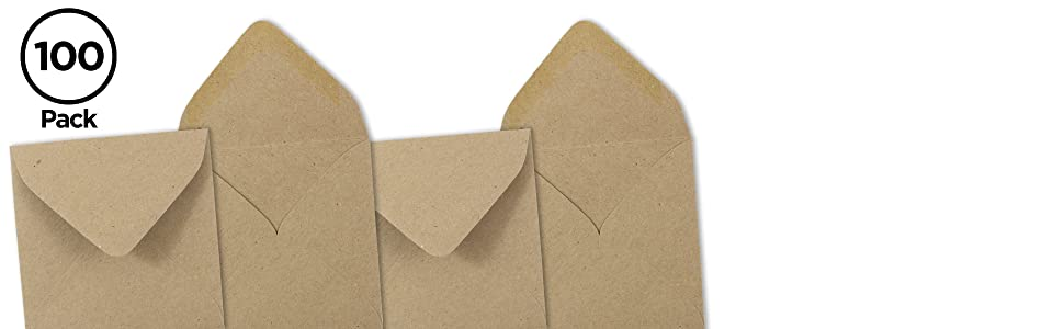 brown kraft square invitational envelope