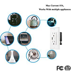smart wall outlet 10A
