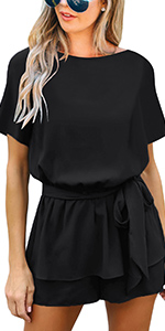 summer short rompers overall shorts black rompers