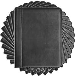 Black Leather Padfolio Portfolio Folio