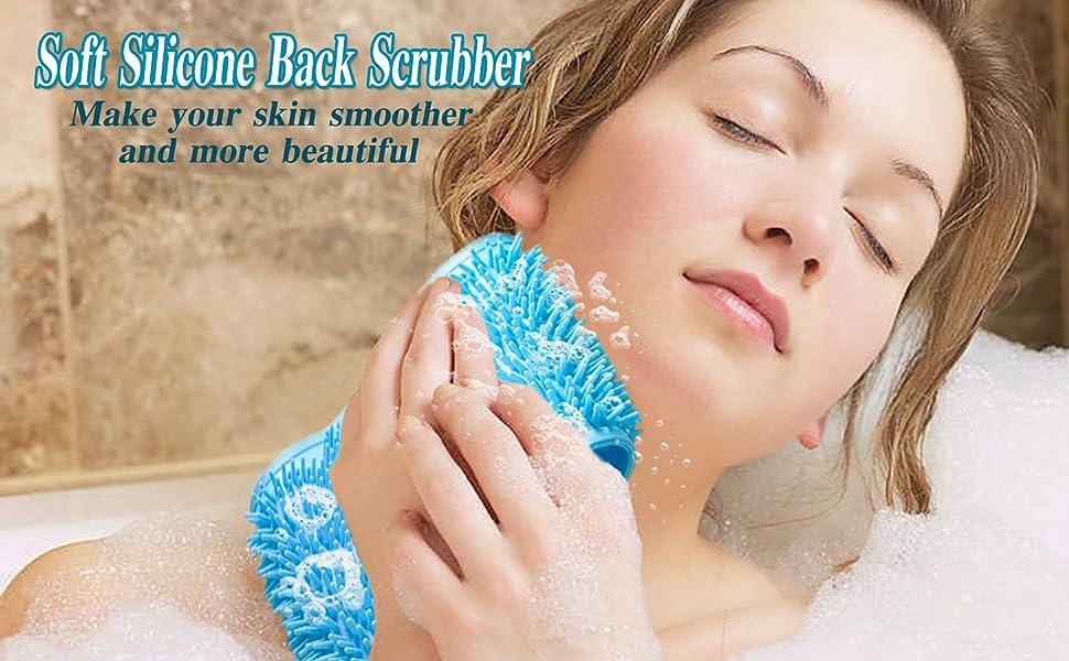 silicone back scrubber
