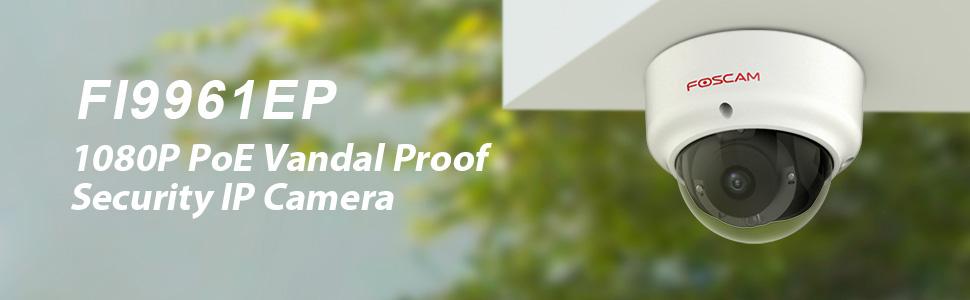 POE Foscam FI9961EP IP Camera HD 1080P Vandal Proof Outdoor SD Card Storage