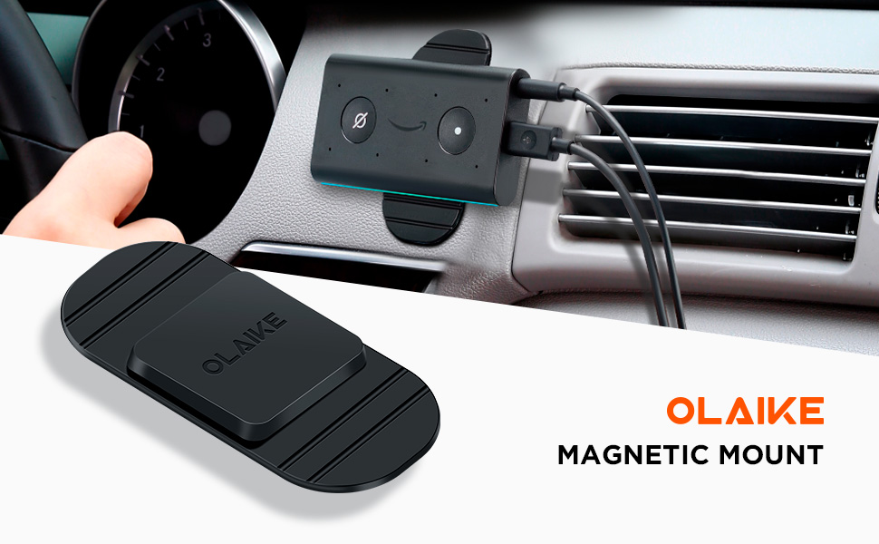 Stick to Flat or Oblique Car face with 3M Tape Base OLAIKE Magnetic Car Mount for Echo Auto,Echo Auto Mount,Echo Auto Air Vent Mount,Echo auto Dash Mount,Echo auto Mount pad Suitable for All Cars