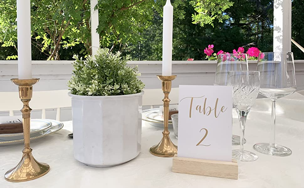 wedding table number table sign wood stand holder
