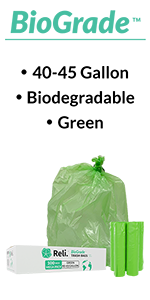 40-45 gallon green trash bag garbage bag 100 cs pk
