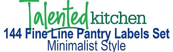Minimlalist Fine Line Pantry Label Set by talented kitchen