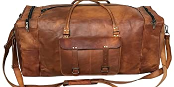 leather duffel leather travel bag, leather luggage bag, leather gym vintage holdall bag