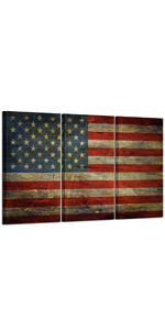 canvas inspirational wall art, flags from around the world, stretched canvas art USA Poster Prints