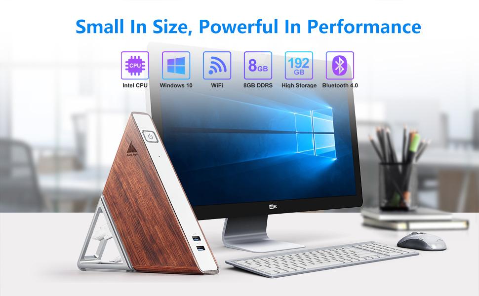 Triangle Mini PC Window10 Quad-core CPU 8G Ram 64G eMMC 128G SSD WiFi BT4.0 4K HDMI Gigabit Ethernet