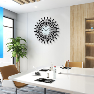 Black wall lclock for office