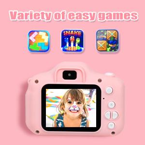 Kids Camera, Digital Video Camera for Kids with 32GB SD Card Children Camera