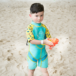 Cheekaaboo upf50 neoprene thermal swimsuit wetsuit sunsuit kids toddler uv protective keep warm